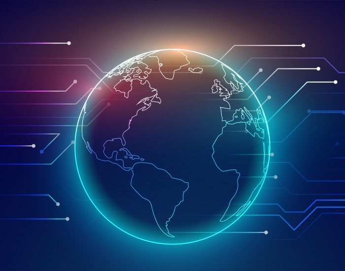 digital global connection network technology background design